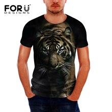 Camisetas Vintage forudiseñs para hombres, camisetas casuales y cómodas con estampado de Tigre/leopardo, para hombre, envío directo