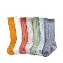 0-5t bebê longo tubo meias outono inverno bebê meninos meninas algodão quente joelho meias altas crianças respirável confortável meias
