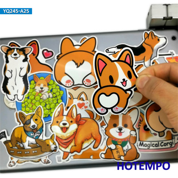 25pcs Lovely Welsh Dog Cartoon Pets Style Stickers for Kids DIY Scrapbook Stationery Laptop Suitcase Phone Cute Decals - discount item  30% OFF Classic Toys