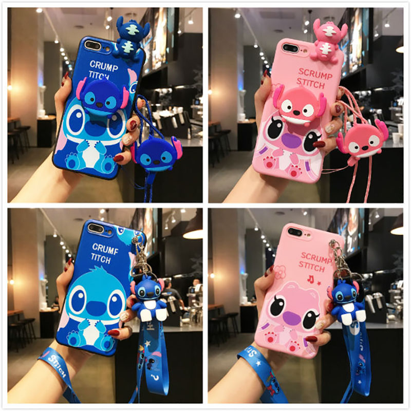 For Samsung Galaxy Note 10 8 9 S7 Edge S8 S9 S10 5G S10E J4 J6 J8 A6 A7 A8 Plus A9 2018 Cover Soft TPU 3D Cute Cartoon image
