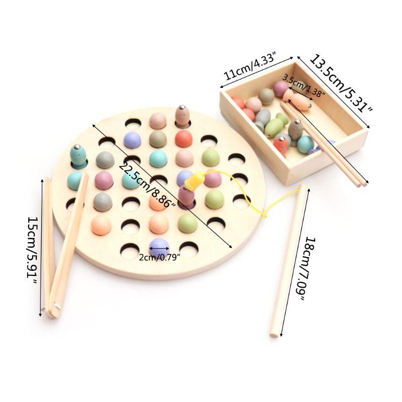 Jouets éducatifs pour enfants jouets Clip perles jeu de pêche magnétique jouet d'apprentissage pour enfants Montessori Y4QA