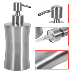 Image 2 - מטבח לדחוף סוג עמיד בית מקלחת ג ל משאבת בקבוק משרד סבון Dispenser נירוסטה נוזל מלון קרם