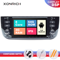 4G 64GB Autoradio 1 Din Android 9.0 Car DVD Multimedia Player For Fiat/Linea/Punto evo 2012 2015 GPS Navigation Stereo IPS DSP