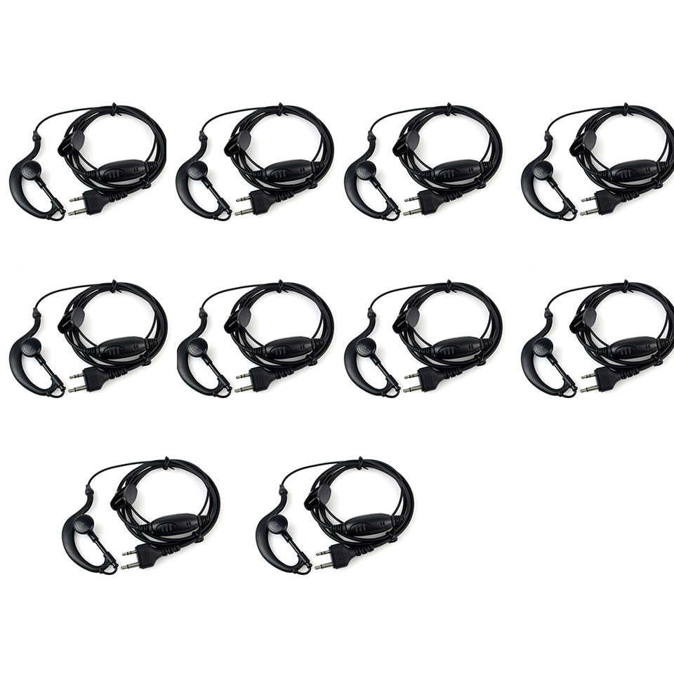 10pcs New G-Shape Earpiece Headset PTT MIC For Midland Radios LXT GXT 75-810 75-786 75-785 75-510 75-501 J6163A