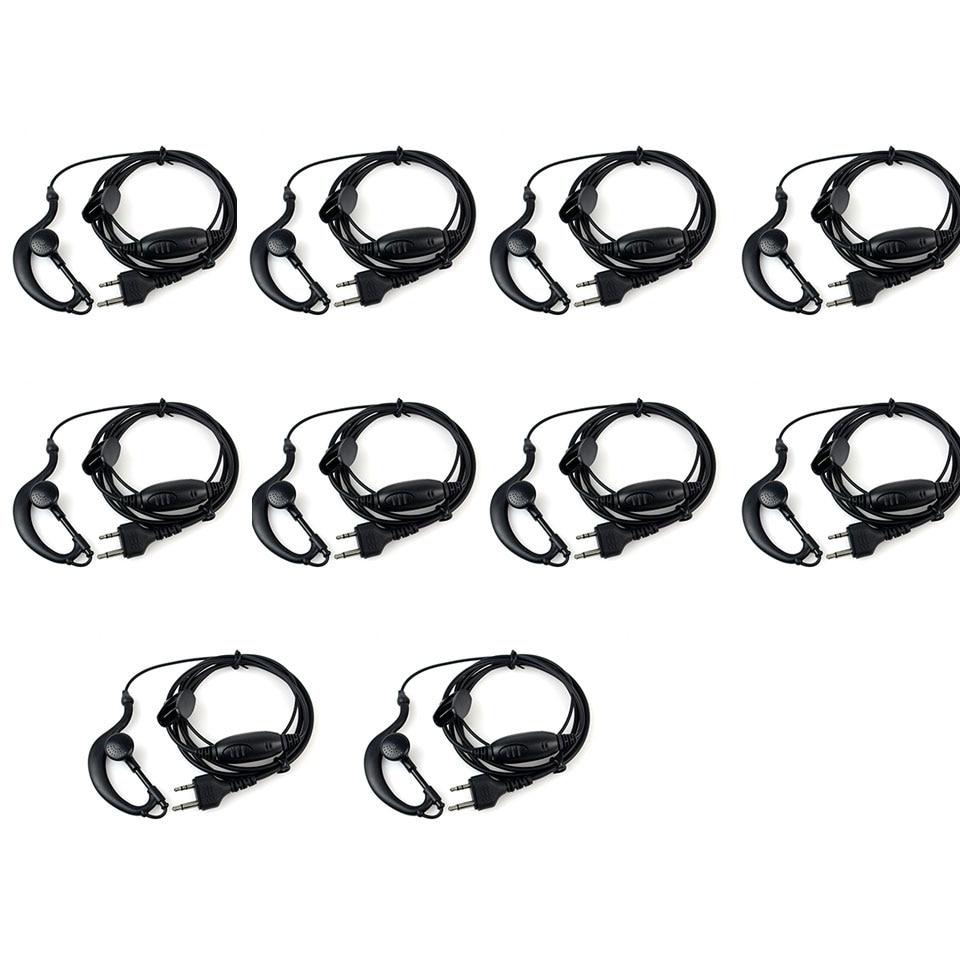 10pcs New G-Shape Earpiece Headset PTT MIC For Midland Radios LXT GXT 75-810 75-786 75-785 75-510 75-501 J6163A