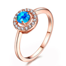 Rose Gold 5mm Ring White Orbo Round Zircon Ring Wholesale Engagement Ring Rings for Women Jewelry Anniversary new arrivals vintage round 5 5mm semi mount ring in 14kt white gold diamond engagement setting ring for sale ywr00103