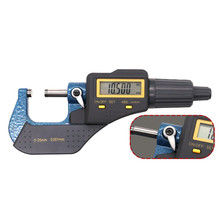 Digital Micrometer 0-1/0-25mm Outside Data Port Large LCD Caliper Electronic Gauge