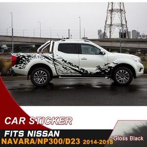 Image 5 - รถด้านข้างสติกเกอร์4โดย4 Decal Mud Splashไวนิลรถสติกเกอร์Custom FitสำหรับNissan Navara Np300 d23