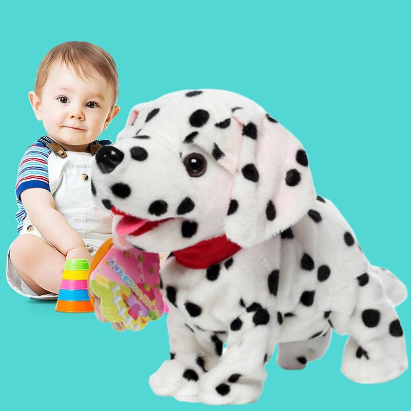 Electronic Robot Dog Toy Intelligent Voice Control Interactive Doll Animal Stand Walk Electronic Plush Puppy Children Toys