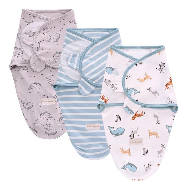 3Pcs Set Newborn Swaddle Wrap Cotton Baby Swaddling Sleeping Bag Infant Envelope Sleep Sack Bedding For 0-6 Months 4