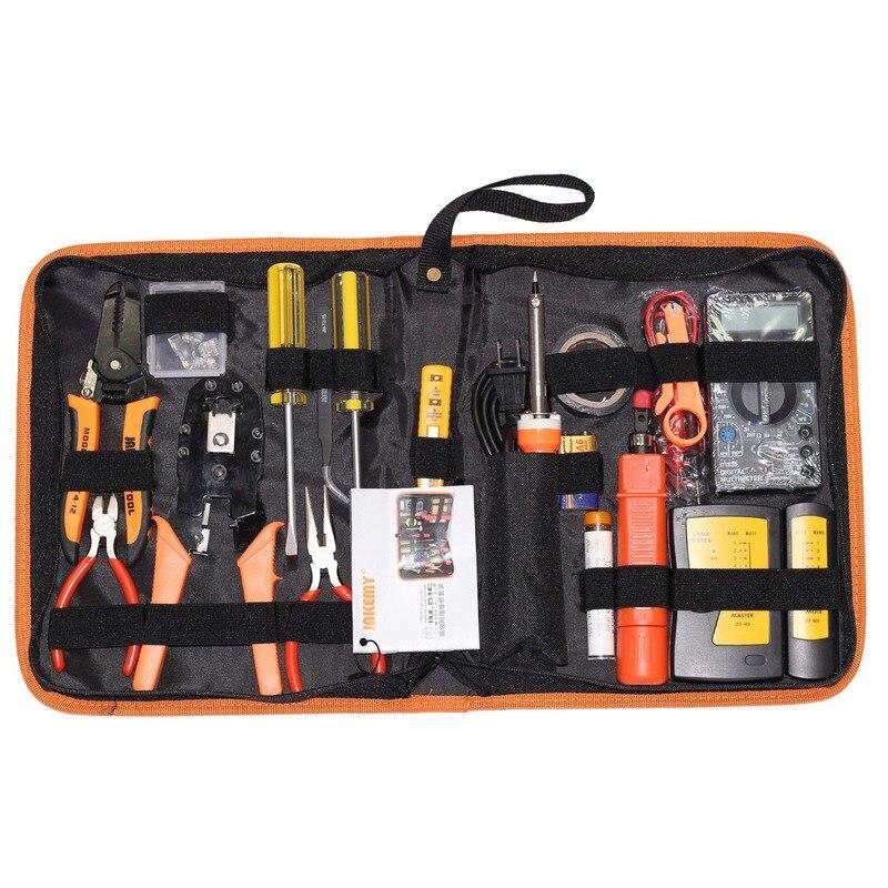 17 en 1 réseau outil de réparation tournevis ensemble outil informatique ensemble d'outils à main stylo électrique fer à souder Kit Net pince pince