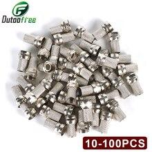 Высококачественный поворотный коннектор для коаксиального кабеля RG6 ТИПА F, 100 шт., латунные материалы, односторонний коннектор, оцинкованны...