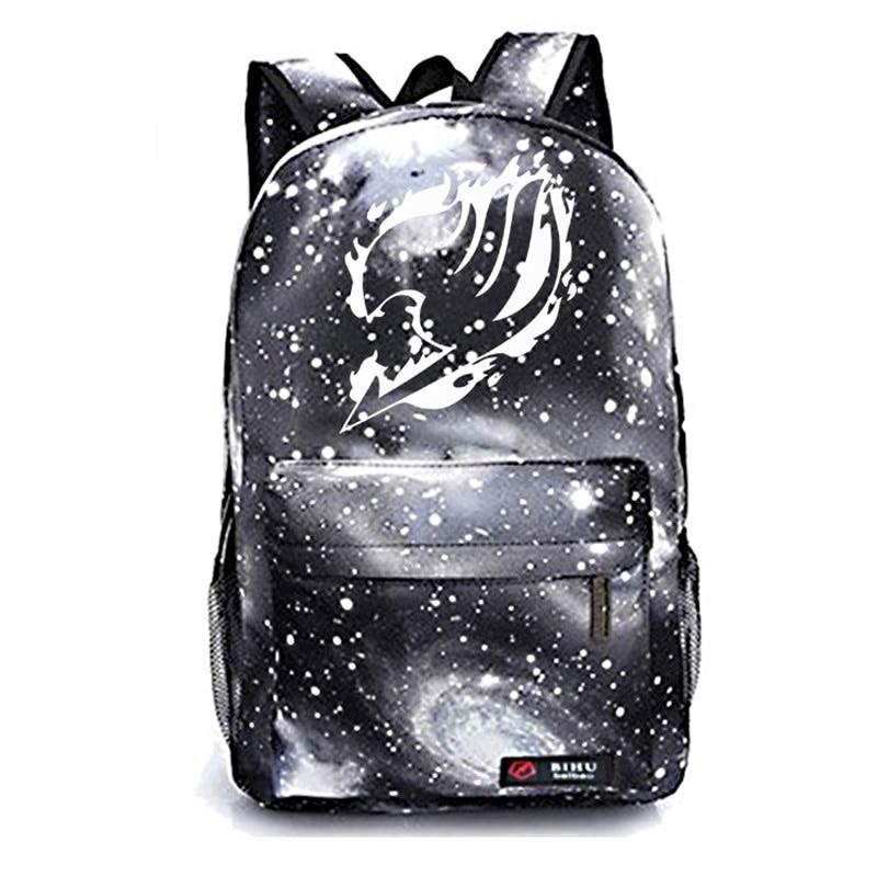 Fairy Tail Galaxy School Bags Fashion Popular Pattern Schoolbag Beautiful Students Boys Girls School Rucksack in Backpacks from Luggage Bags