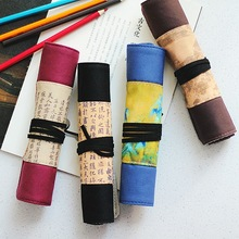 Pouch Kawaii Stationery Pencil-Case Pen-Storage Cosmetic-Brush Makeup Art-Pen Wrap-Roll