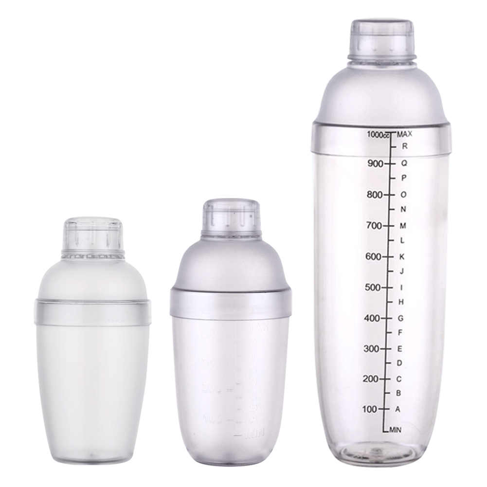 Plastic Martini Cocktail Shaker 350Ml/530Ml/1000Ml Wijn Drank Mixer Wijn Shaker Drink Mixer bar