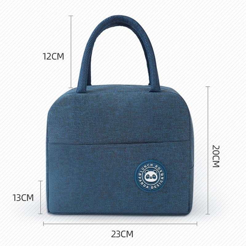 Portable Lunch Bag New Thermal Insulated Lunch Box Tote Cooler Handbag Bento Pouch Dinner Container School Food Storage Bags 6
