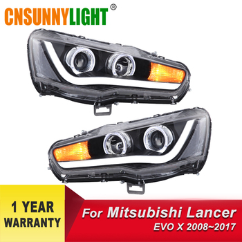 CNSUNNYLIGHT Car Headlight Assembly For Mitsubishi Lancer 2008-2017 Styling LED DRL Turn Signal Projector Lens H7 H1 Plug & Play