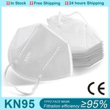 FFP2 Mascarillas FPP2 Mask KM95 Mascarilla FFPP2 Homologada White kn95 reusable five-layer dust-proof mask mascarllas fpp2