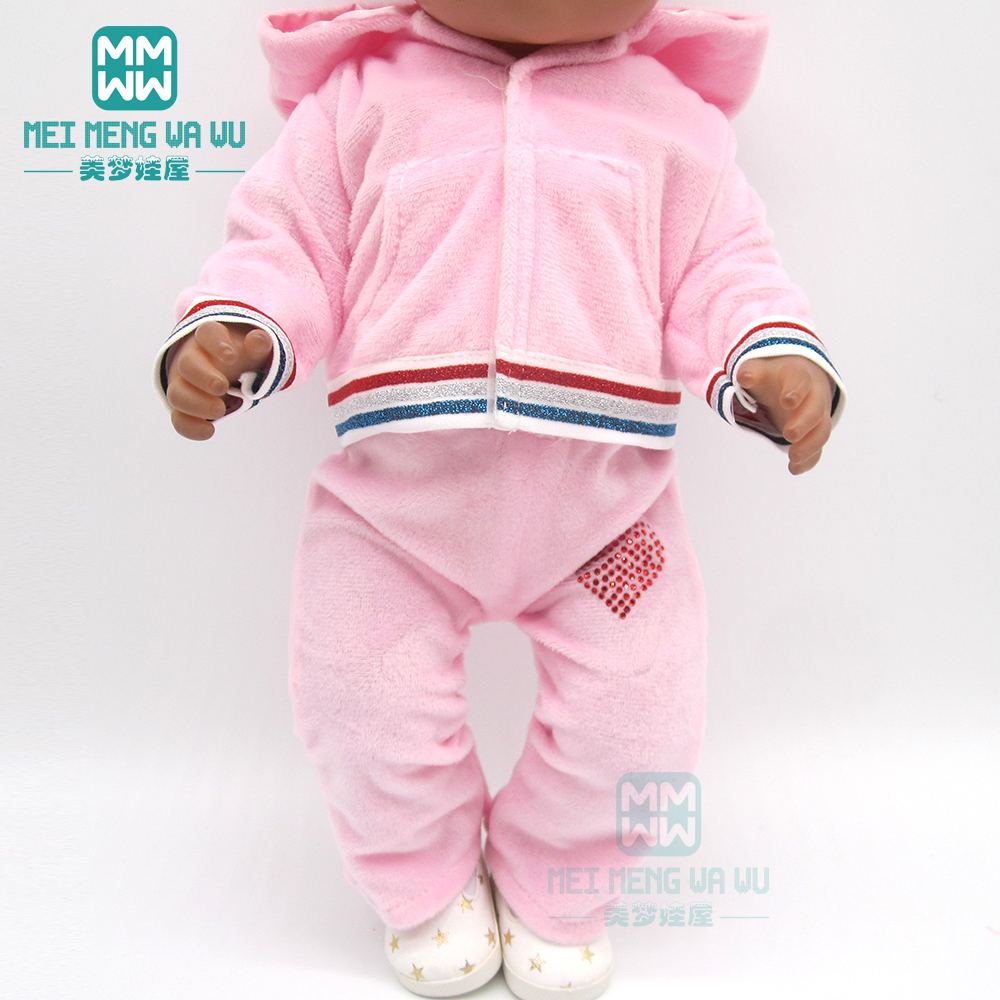 Clothes For Doll Fit 43-45cm Born Baby Doll And American Doll Accessories Sports Jacket Set