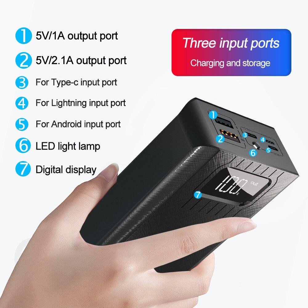 30000 мА/ч портативное зарядное устройство для мобильного телефона, Внешнее зарядное устройство, внешний аккумулятор 30000 мА/ч для Xiaomi Mi iphone