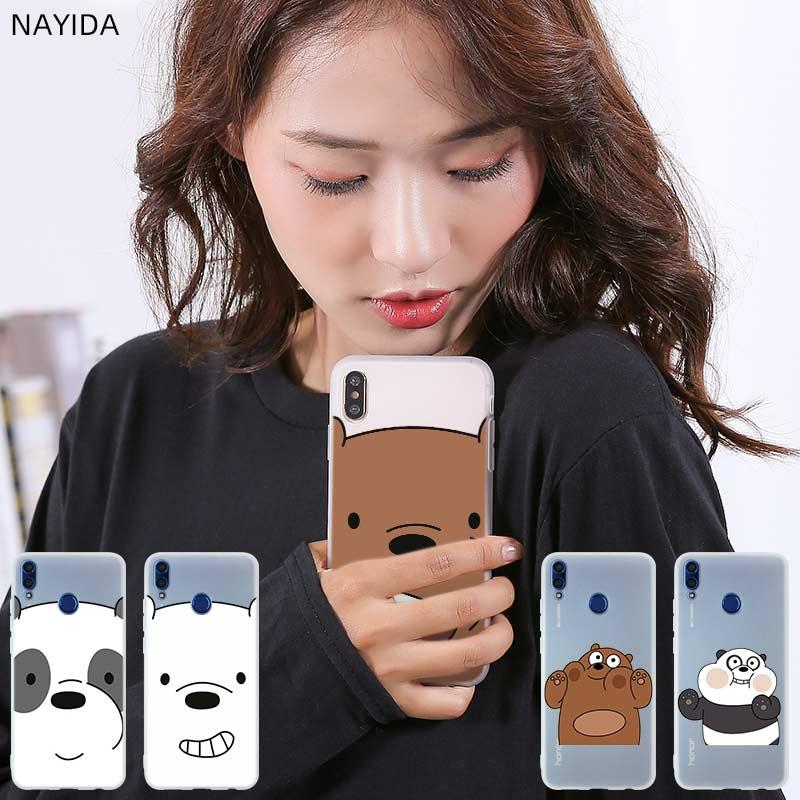 Housse de téléphone de luxe pour Huawei Honor 9 10 Lite 9X 8X Max 7a pro 8a 8C V20 PLAY 10i 20 Pro jolis ours nus