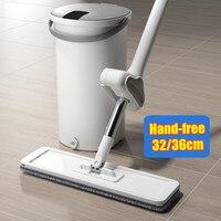 Fregona escurrible con cubo para el hogar, herramienta de autolimpieza para el suelo, ayuda a los perezosos, con rayos mágicos, para Cocina