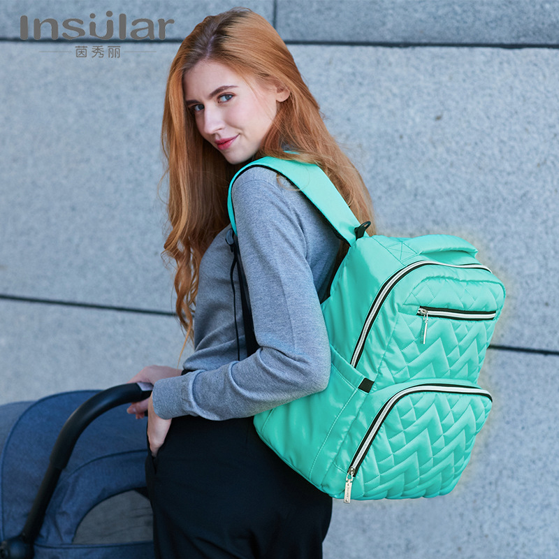 Beautiful Fashion Both Shoulders Waterproof Nylon  Will Capacity Baby Go Out Backpack Both Shoulders Diaper Bags 45