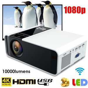 Home Theater Projector Android-System Bluetooth Mini Portable HD Wifi 4K with W10 3500lms