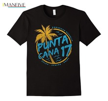 цена на Brand New 2019 Summer Mens Short Sleeve Punta Cana 2019 Dominican Republic Travel Vacation T-shirt Tee
