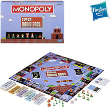 Original Hasbro Gaming Monopoly Super Mario Bros Collector's Edition Board Game Family Party Birthday Gift Adult Toys for Boys