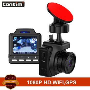 "Conkim Dash Camera Wifi Car DVR Novatek 96658 IMX323 1080P Full HD 1.5"" IPS Car Autoregistrars Built In GPS Loop Recording DVR"