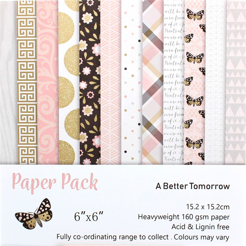 KSCRAFT 12pc A Better Tomorrow Scrapbooking Pads Paper Origami Art Background Paper Card Making DIY Scrapbook Paper Craft