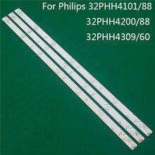 טלוויזיה תאורה עבור פיליפס 32PHH4101/88 32PHH4200/88 32PHH4309/60 LED בר תאורה אחורית רצועת קו שליט GJ 2K15 d2P5 D307 V1 V1.1