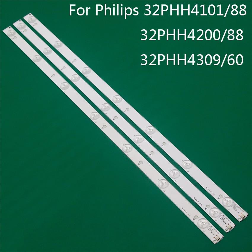TV Illumination For Philips 32PHH4101/88 32PHH4200/88 32PHH4309/60 LED Bar Backlight Strip Line Ruler GJ-2K15 D2P5 D307-V1 V1.1