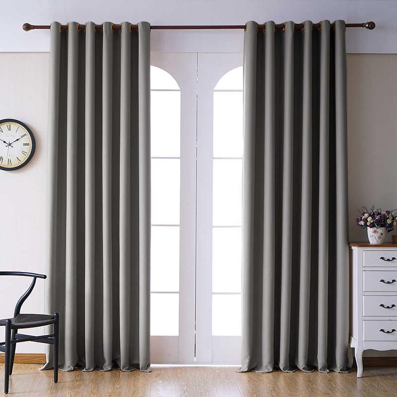 Blackout וילונות לסלון חלון וילונות תריסים עבה וילונות למטבח חדרי שינה מודרני סיים וילון הצללה גבוה