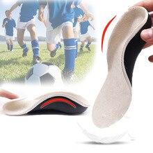 3D Orthotic Insoles 어린이와 어린이를위한 플랫 피트 X 다리 용 아치 지원 깔창 Orthotic Shoe Heel Pad Inserts