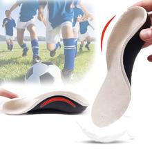 Semelles orthopédiques 3D, pour enfants et pieds plats, Support en arc, pour jambes X, Inserts pour coussins de talon