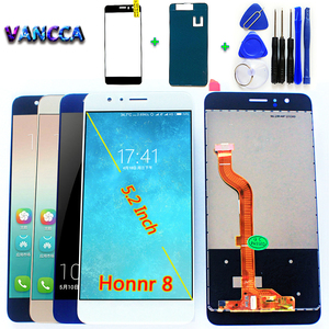 Image 1 - For Huawei Honor 8 5.2 inch  LCD Display Touch Screen Digitizer Sensor Glass Panel Assembly For Huawei Honor 8 FRD L19 FRD L09