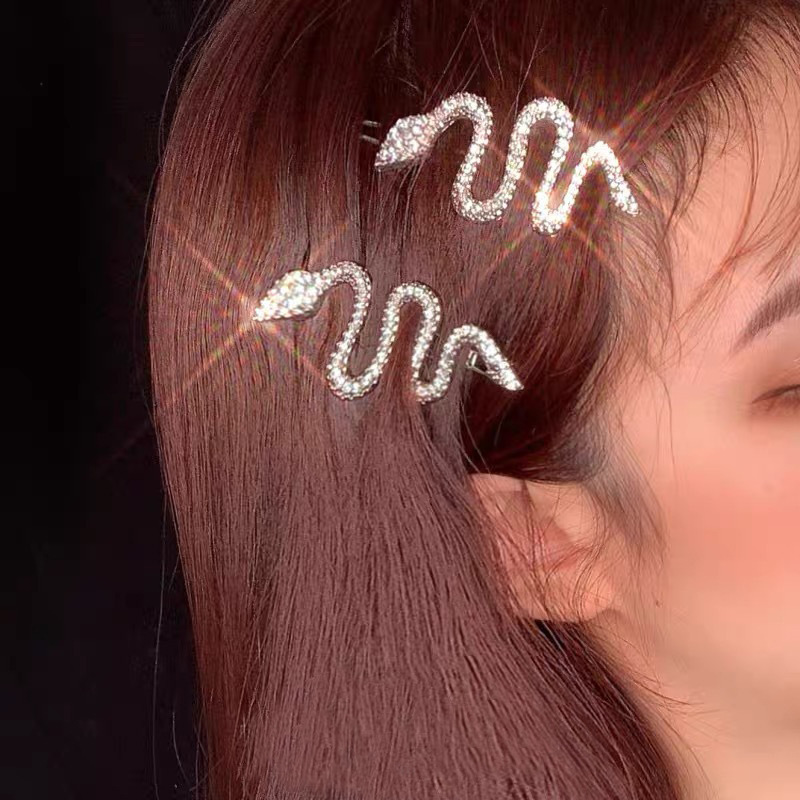 Metal Snake Shape Bobby Pins Punk Gold Tone Animal Hair Accessories Hairpin 2021 Gift Vintage Hair Jewelry 3