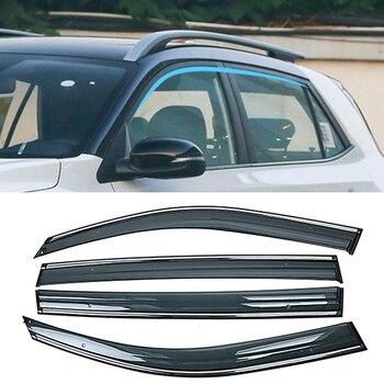 For KIA Stonic YB KX1 2017 2018 2019 Car Window Sun Rain Shade Visors Shield Shelter Protector Cover Frame Sticker Accessories