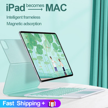 For iPad Pro 11 Case 2021 for iPad Pro 12.9 2020 2018 Air 4 10.9 Magnetic Slim Cover With Bluetooth Touchpad Keyboard Mouse Case