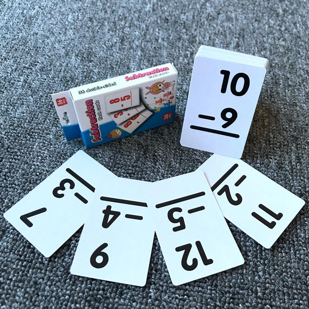 Cognitive Card Early Education Toy Math Learning Waterproof Training Toys Arithmetic For Children Card Educational Intellig T5H9