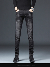 New Spring Autumn Jeans Trousers Stretch High Quality Casual Fashion Business Pants