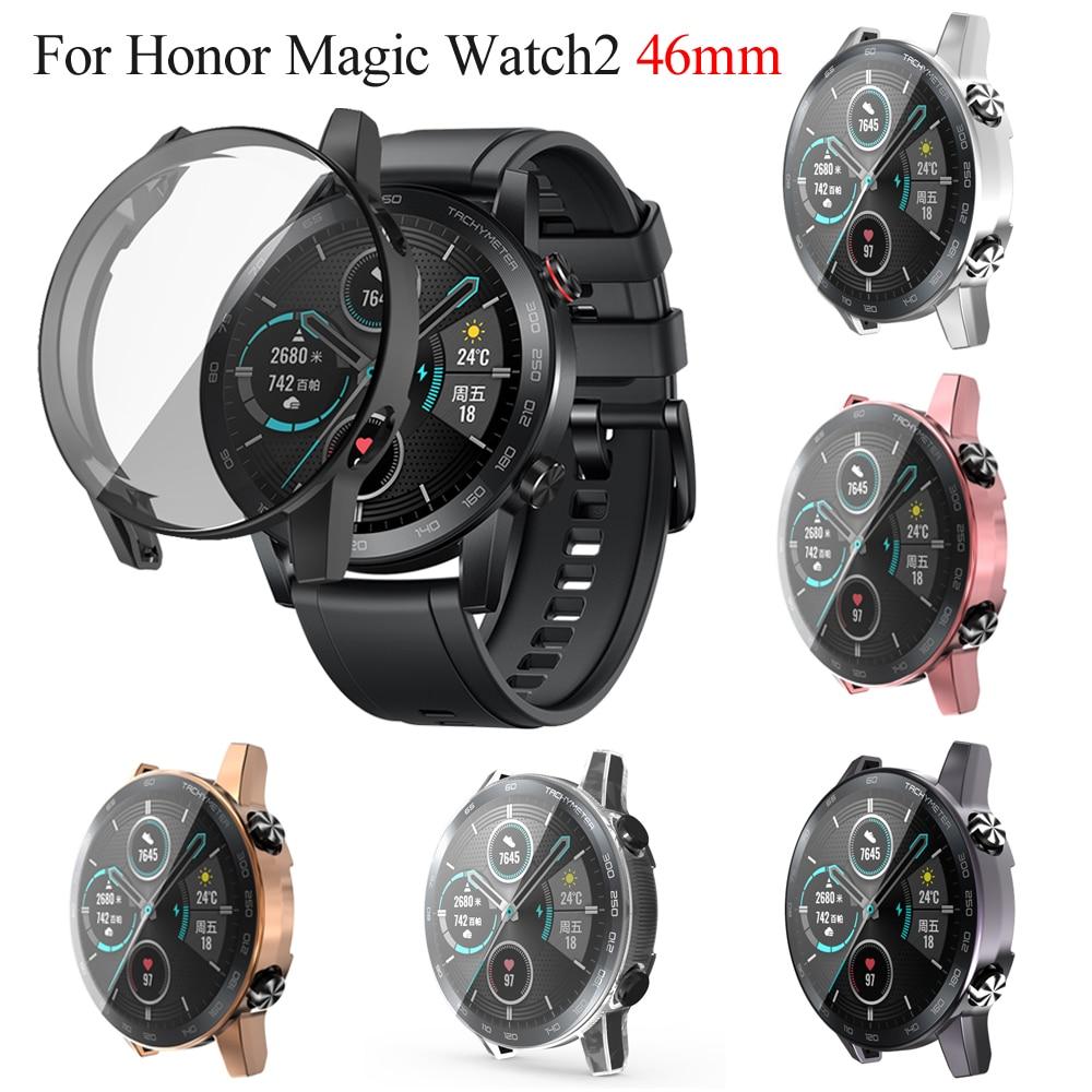 Чехол для часов из ТПУ с полным покрытием, защитный чехол с покрытием для Honor Magic Watch 2 46 мм, аксессуары для умных часов