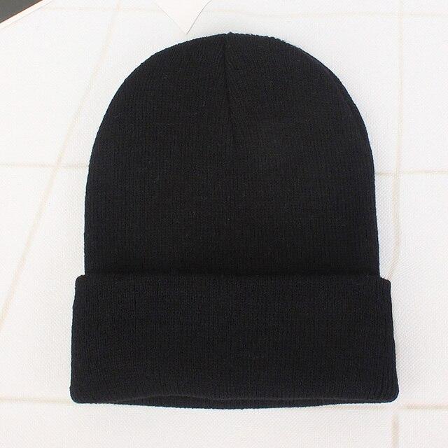 Solid Knitted Hats for Women Winter Soft Warm Knitted Cap Men Women Skullcap Hats Gorro Ski Caps Fashion Beanies for Women 2021 4