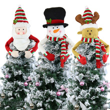 2019 Christmas Dolls Santa Claus Snowman Cat Plush Elk Kids Collection Party X-mas Gift B706