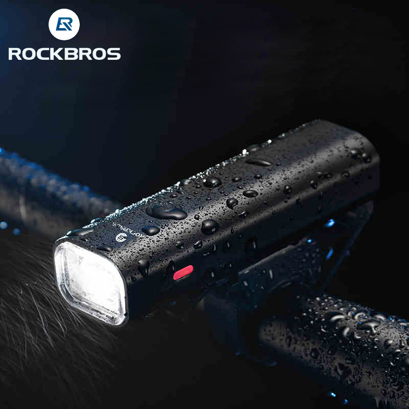 RockBros Rechargeable Cycling Light Bicycle Headlight Waterproof Lamp with USB