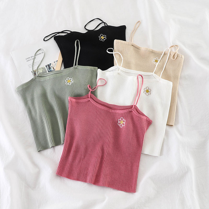 HELIAR Spring Camis Club Sexy Knitting Camisoles Female Spaghetti Tank Tops Ladies Sleeveless Solid Simple Tops Women