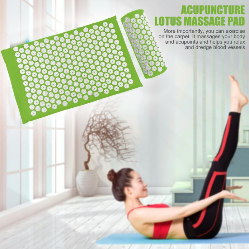 Acupressure Massage Mat with Pillow set to body Relaxation to Release Stress and Tension 2