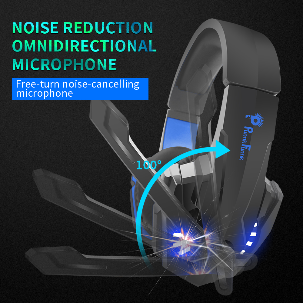 Professionele Gaming Hoofdtelefoon Led Licht Bass Stereo Ruisonderdrukking Microfoon Gamer Headset Voor PS4 PS5 Xbox Laptop Pc Bedrade Headset 6